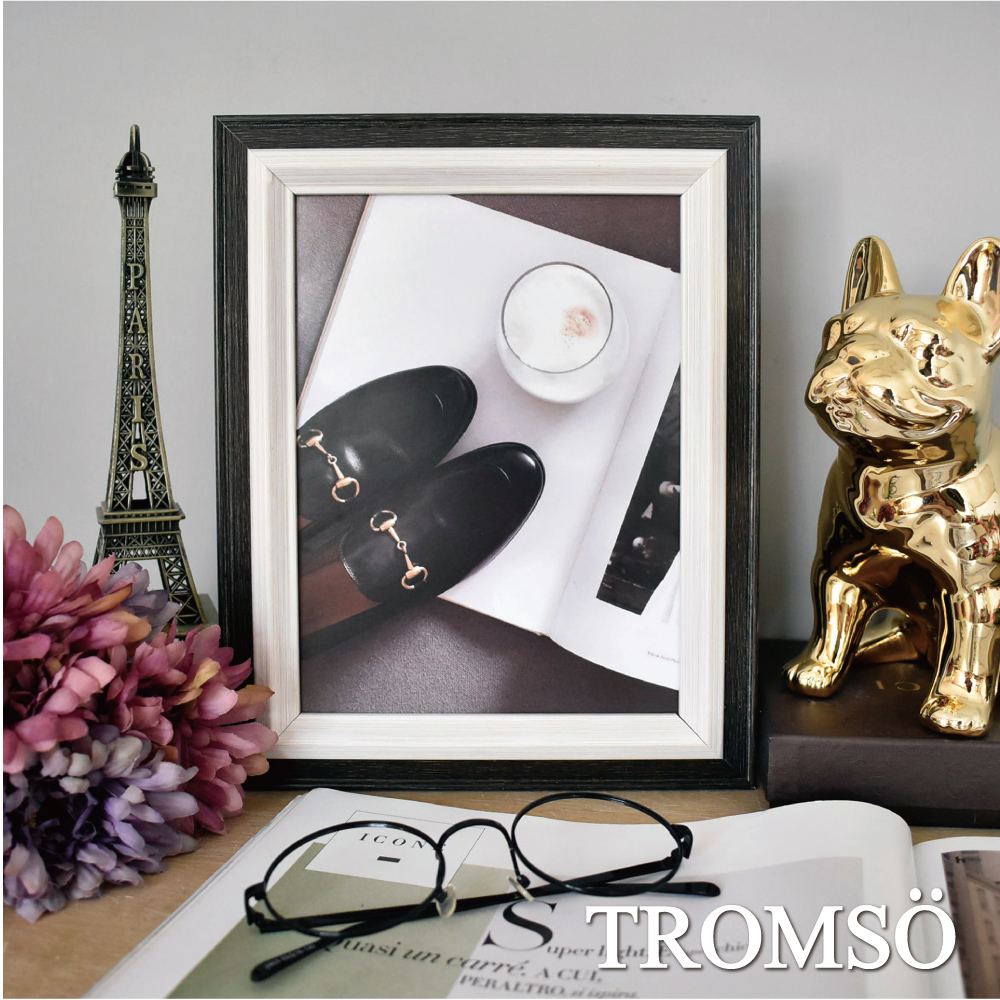 TROMSO巴黎撞色木紋6x8相框-黑