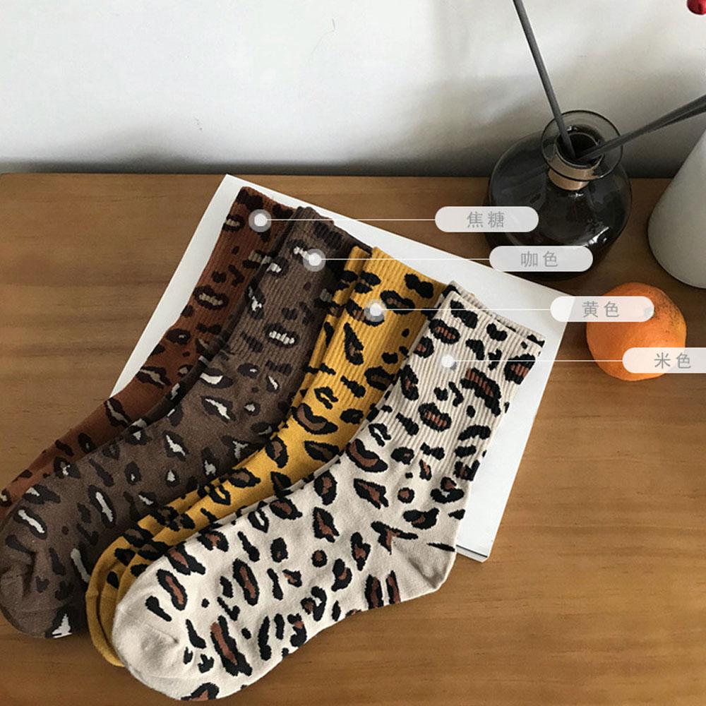 【nata】現貨-摩登豹紋堆堆襪(共四色)