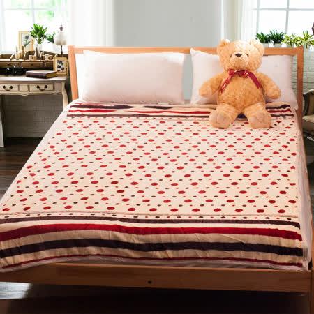 點點-雙面短絨 加厚款舒柔法萊絨毯