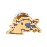 agnes b. - 立體恐龍穿式耳環/金底藍邊(單隻)