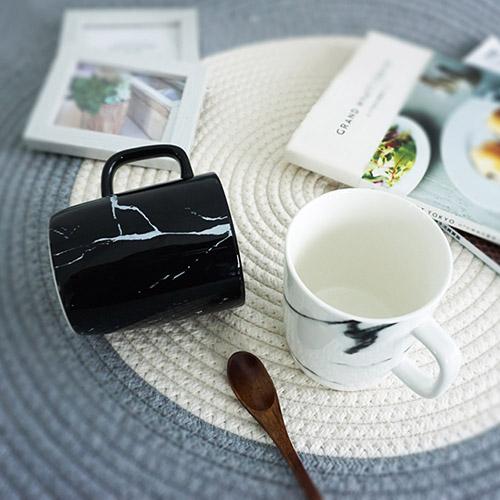 【Homely Zakka】北歐大理石紋馬克杯2入組
