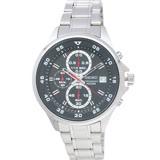 SEIKO 手錶 精工表 SKS627P1 黑面 日期 三眼計時 鋼帶 男錶