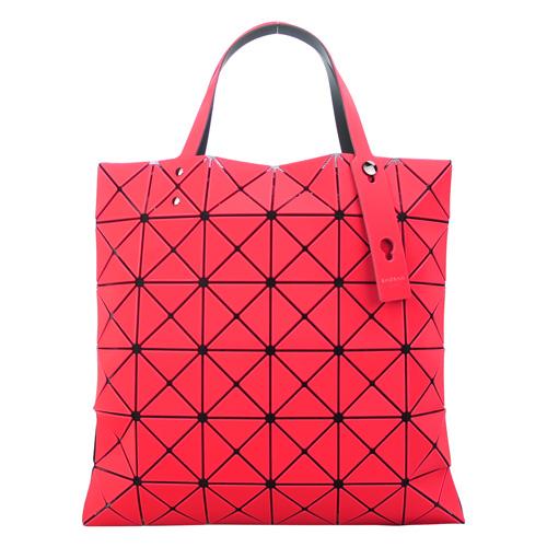 ISSEY MIYAKE 三宅一生BAOBAO幾何方格霧面6x6手提包(紅)