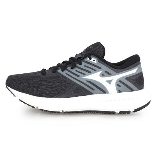 (女) MIZUNO EZRUN LX2 慢跑鞋-路跑 美津濃 黑灰白