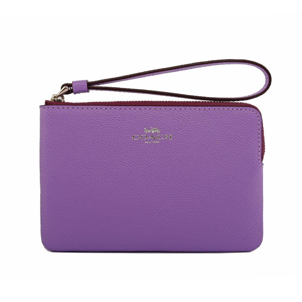 【COACH】L型拉鍊手拿包(紫色系) 58032 SVII