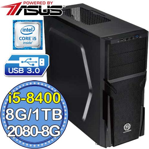 華碩B365平台【光闇令咒】i5六核 RTX2080-8G獨顯 1TB效能電腦