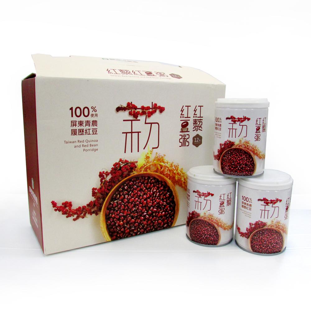 【農漁會超市中心】屏東縣農會紅藜紅豆粥12入禮盒 四盒(每罐250g)(含運)