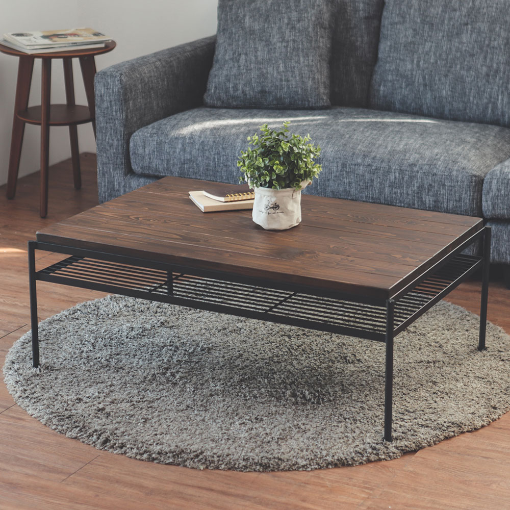 Peachy life 工業風單層架松木茶几桌/和室桌
