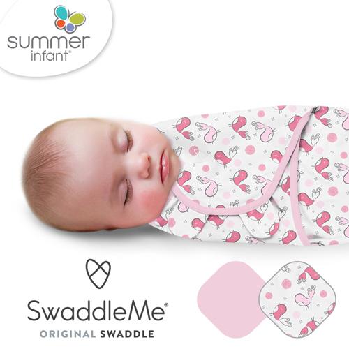 美國Summer Infant 聰明懶人育兒包巾-純棉 S-2入 浪漫粉鵲