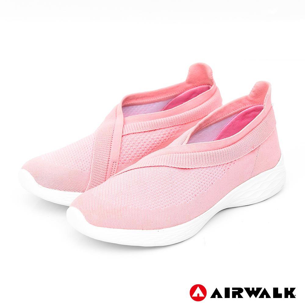 AIRWALK 波浪編織健走鞋-粉紅