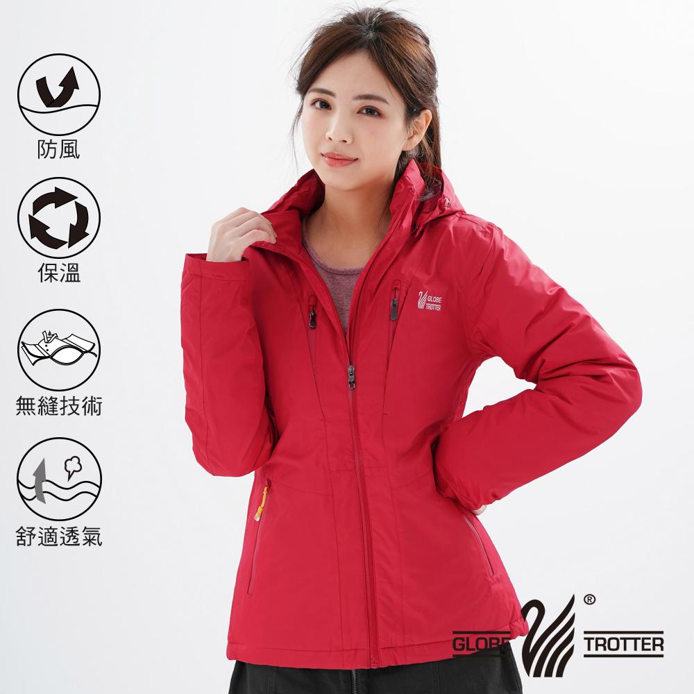 【遊遍天下】女款防風透濕保暖無車縫羽絨機能外套22009紅色
