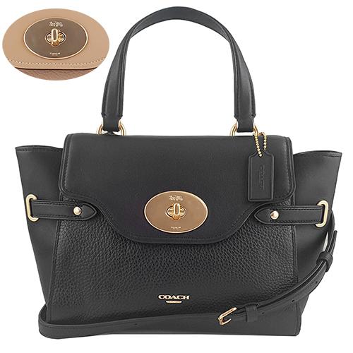 COACH 新款荔枝牛皮蝙蝠包 兩用包 手提包 -兩色 32106
