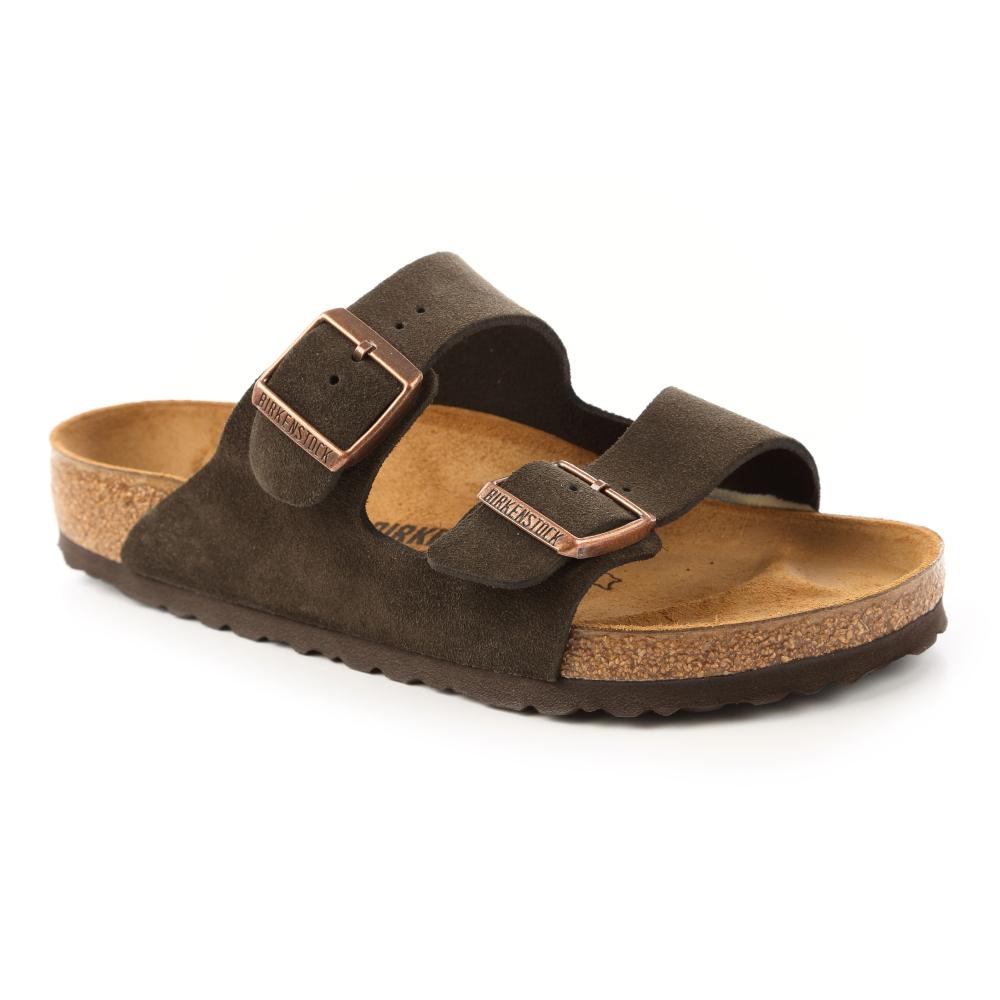 勃肯BIRKENSTOCK 051901。ARIZONA亞利桑那 經典二條拖鞋(深咖啡)