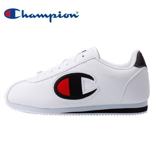 【Champion】FG 街頭流行大Logo女休閒運動鞋-白黑(84-2220101)