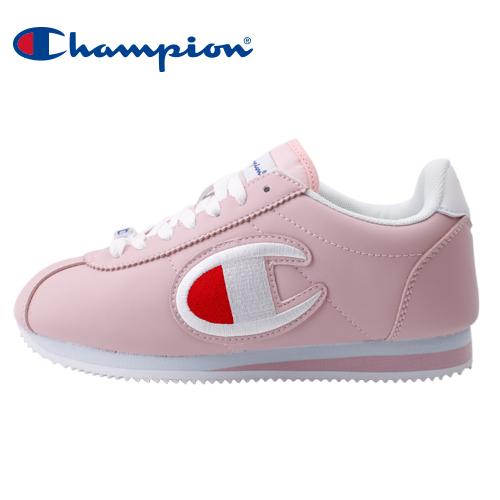 【Champion】FG 街頭流行大Logo女休閒運動鞋-粉(84-2220166)