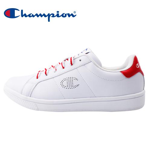 【Champion】CC Tennis II 多色鞋帶女休閒運動鞋-白紅(84-1220104)