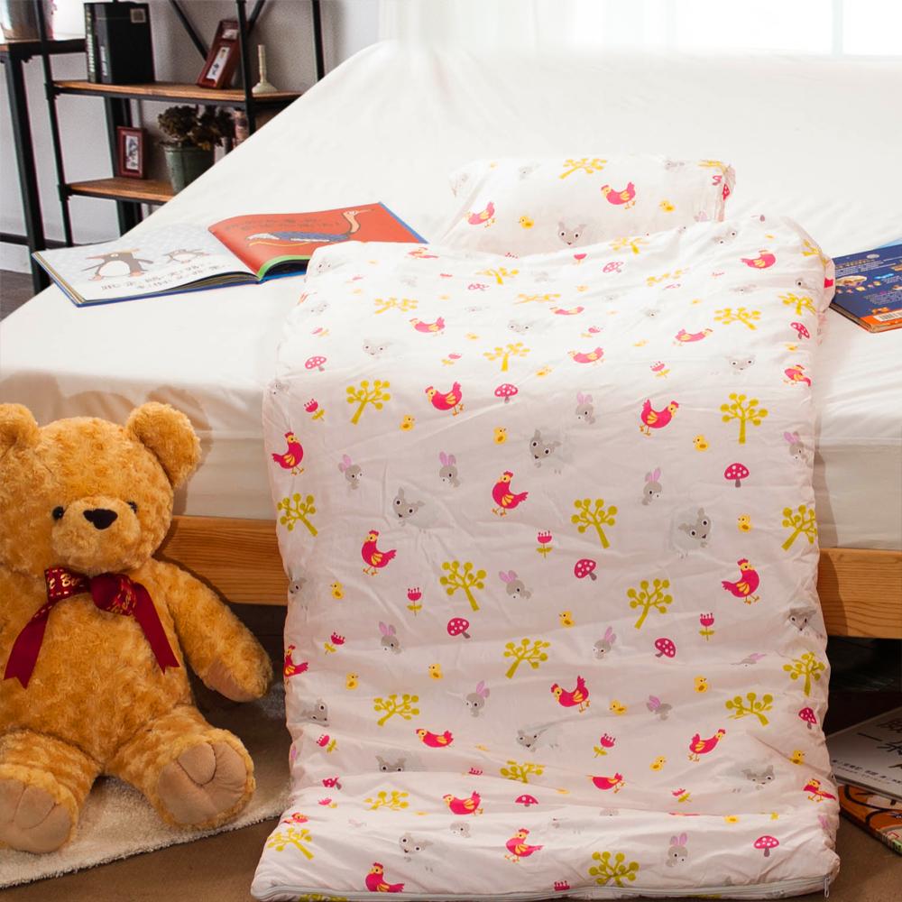 Carolan-小小農場 純棉舖棉兩用加大型兒童睡袋