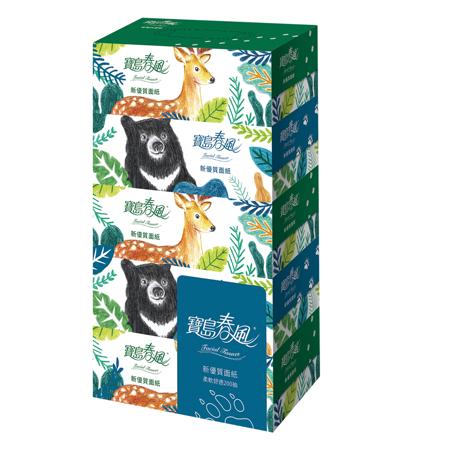 《寶島春風》盒裝面紙(200抽*5盒*10串)/箱