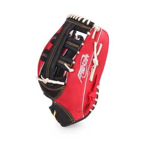 MIZUNO 壘球手套-外野手用-棒球 壘球 美津濃 紅黑白 F