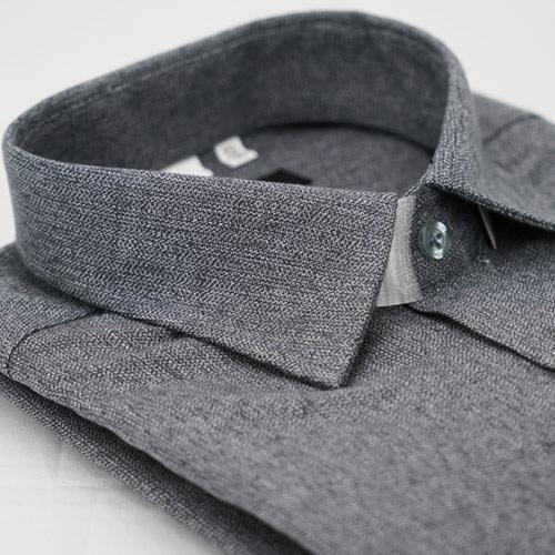 【金安德森】淺灰保暖窄版長袖襯衫