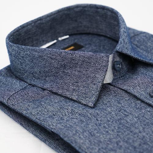 【金安德森】深灰保暖窄版長袖襯衫