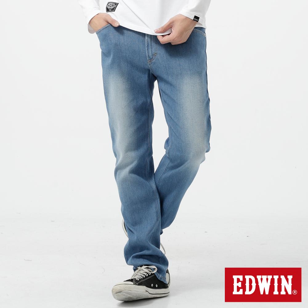 EDWIN 503 FLEX伸縮中直筒牛仔褲-男-漂淺藍