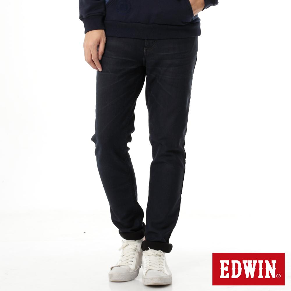 EDWIN JERSEYS 迦績褲 貼合內裡保溫牛仔褲-男-酵洗藍