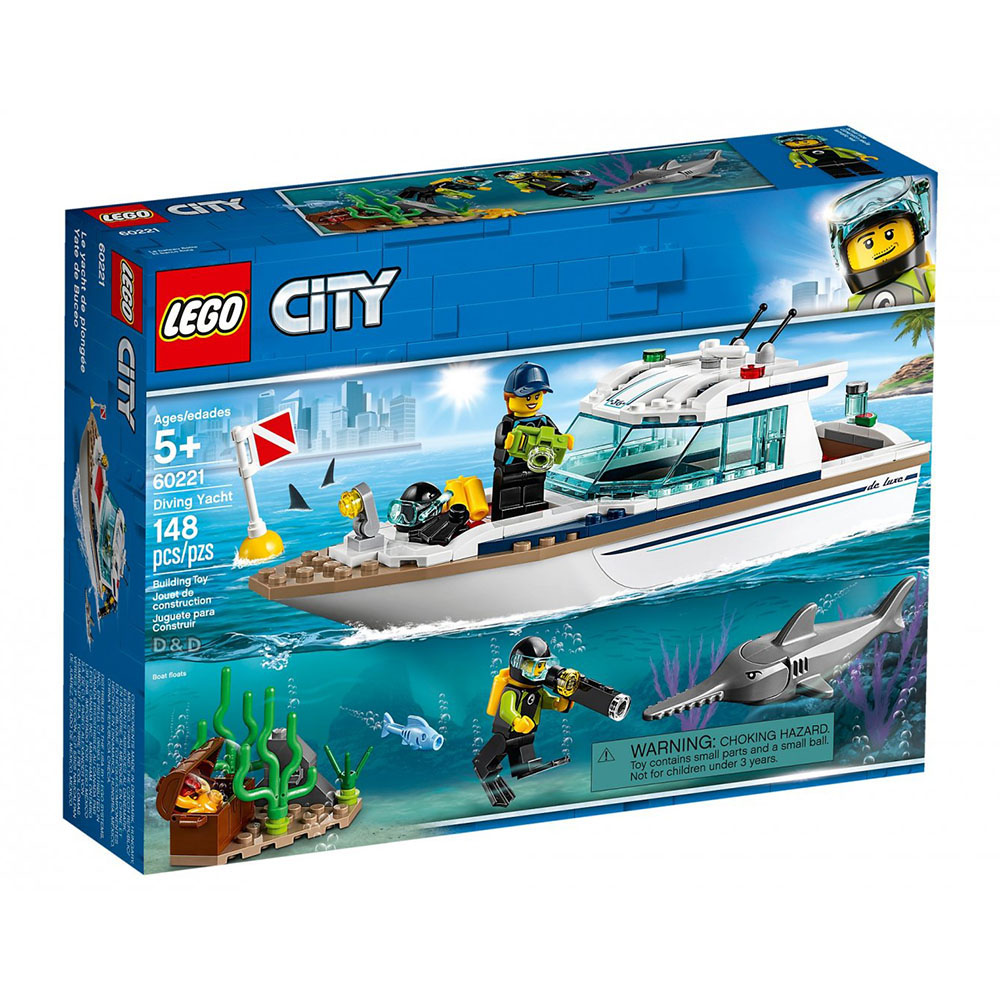 樂高積木 LEGO《 LT60221 》City 城市系列 - 潛水遊艇