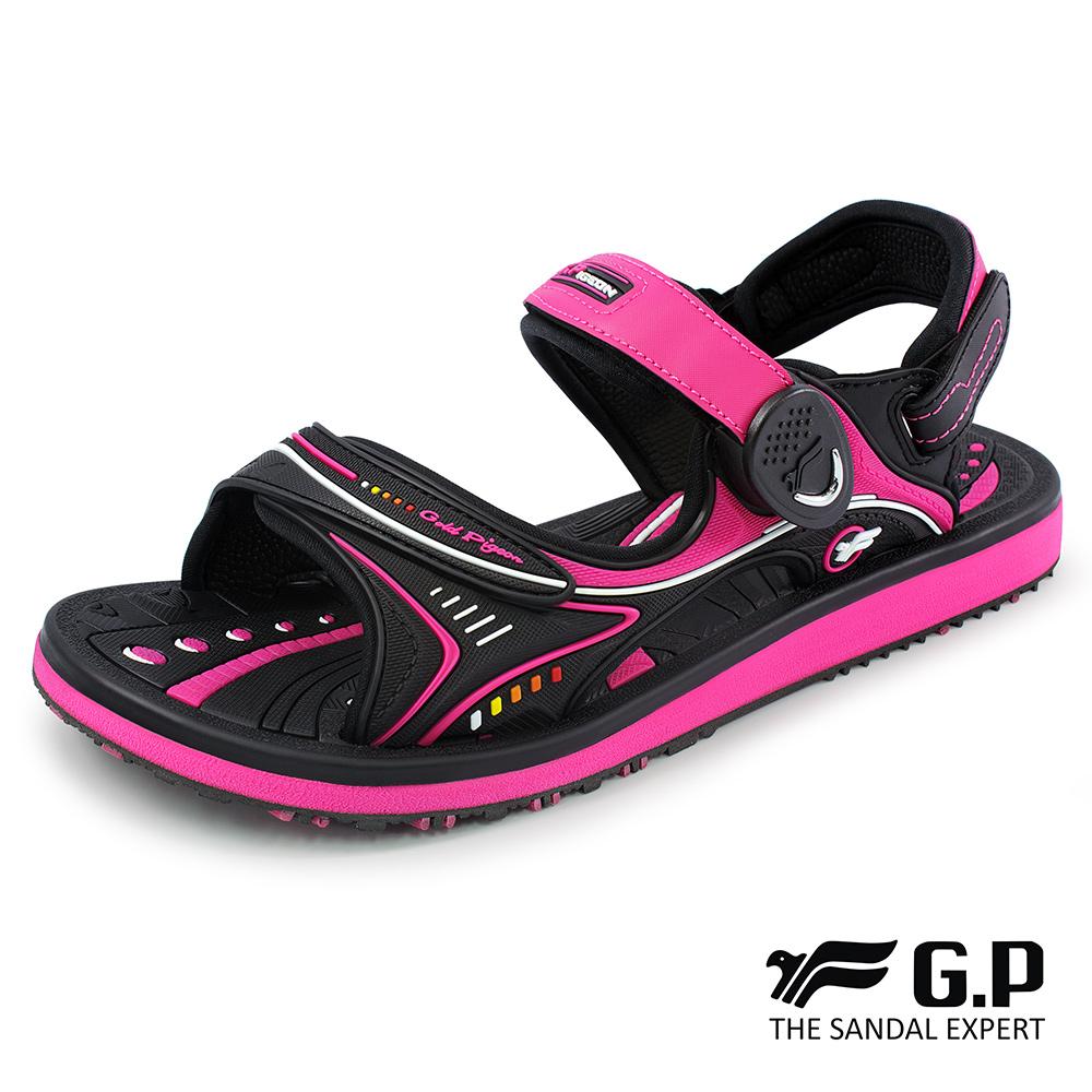 【G.P 女款高彈性舒適磁扣兩用涼拖鞋】G8666BW-黑桃色(SIZE:35-39 共三色)