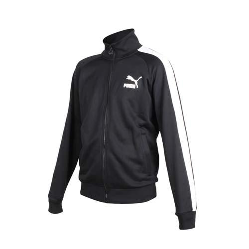 (男) PUMA ICONIC T7 流行系列立領運動外套-長袖上衣 慢跑 黑白