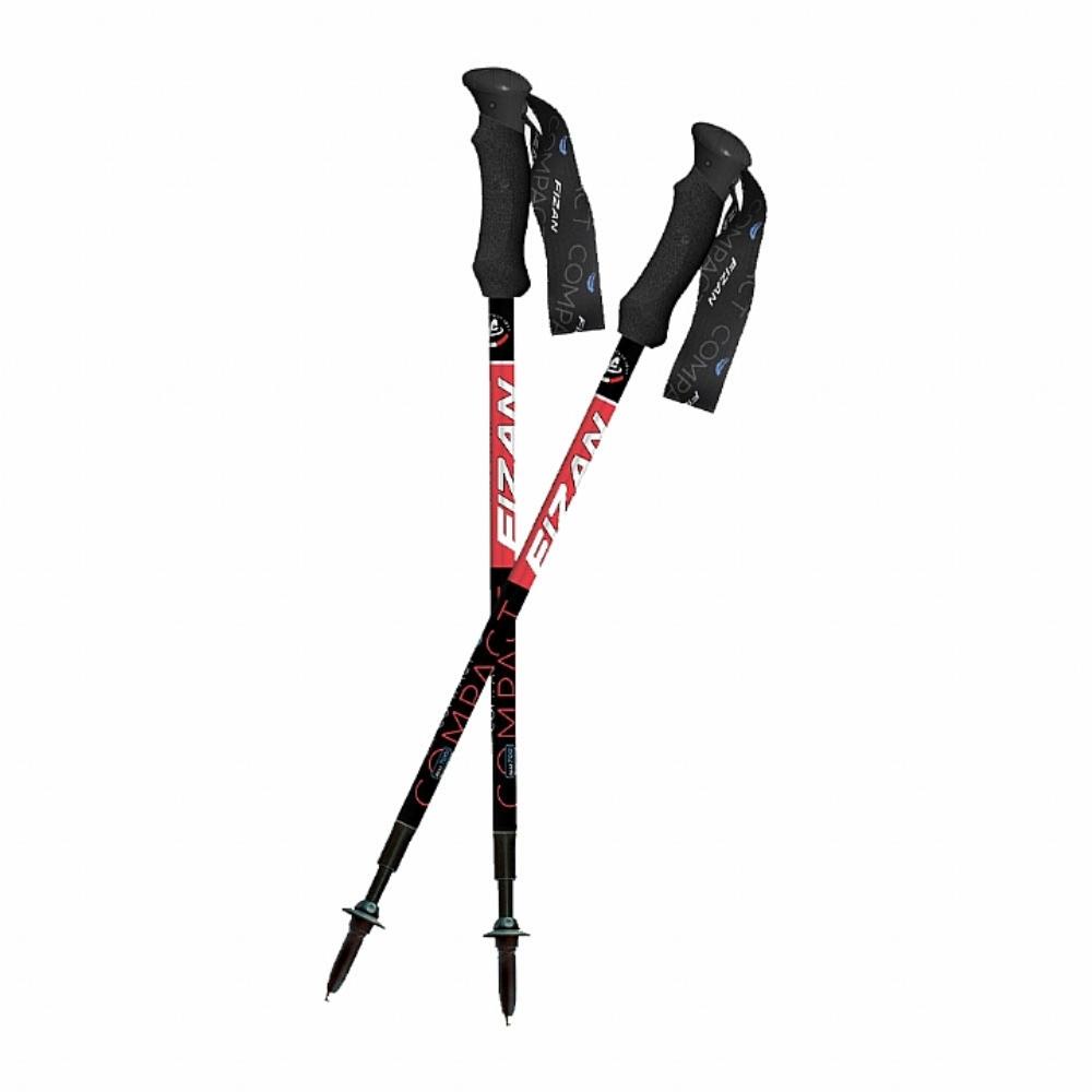 FIZAN 超輕三節式健行登山杖(2入) (紅/黑)