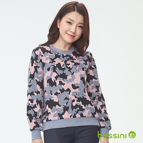 bossini女裝-圓領厚棉上衣03淺灰(品特)