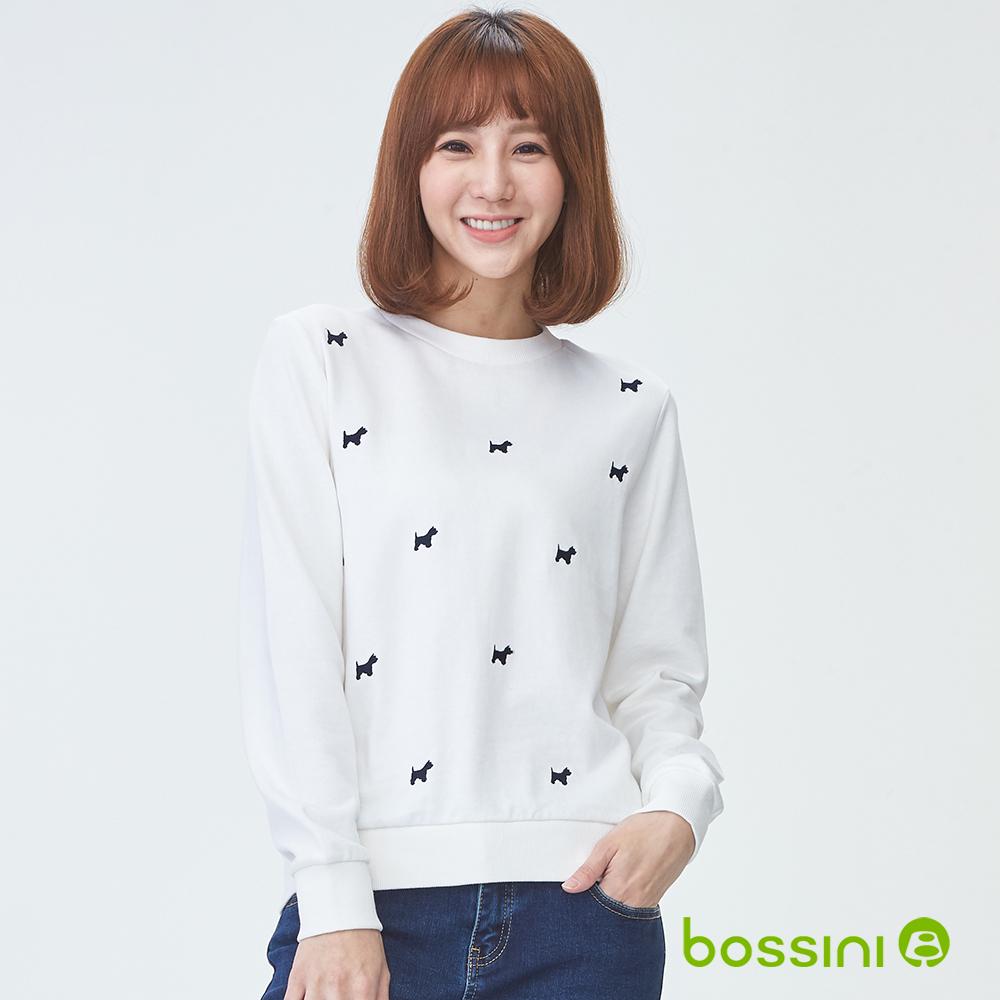 bossini女裝-圓領厚棉上衣06灰白(品特)