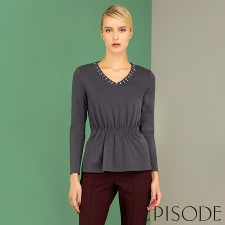 EPISODE 珠飾縮腰設計上衣