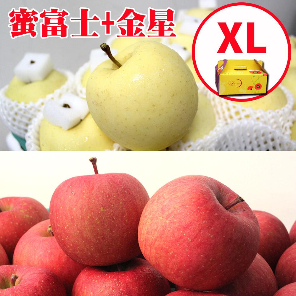 [甜露露]青森金星+嚴選蜜富士蘋果XL 6顆禮盒(1.8kg)