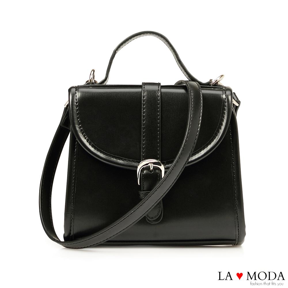 La Moda 約會帶著它~精緻便攜多背法肩背斜背手提小方包(黑色)