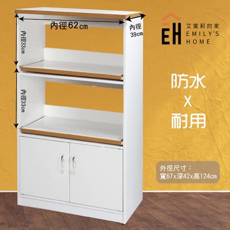 【艾蜜莉的家】 塑鋼白色電器櫃
