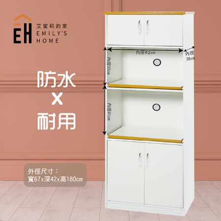 艾蜜莉的家 2.2尺塑鋼白色電器櫃