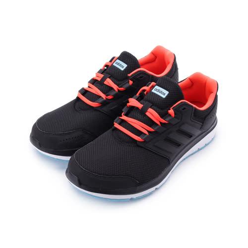 ADIDAS GALAXY 4 M 輕量透氣跑鞋 黑橘紅 B43811 男鞋 鞋全家福
