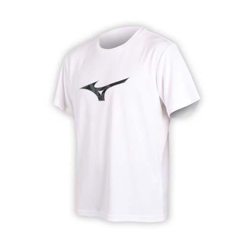 (男) MIZUNO 短袖T恤-短T 短袖上衣 慢跑 路跑 美津濃 白黑灰
