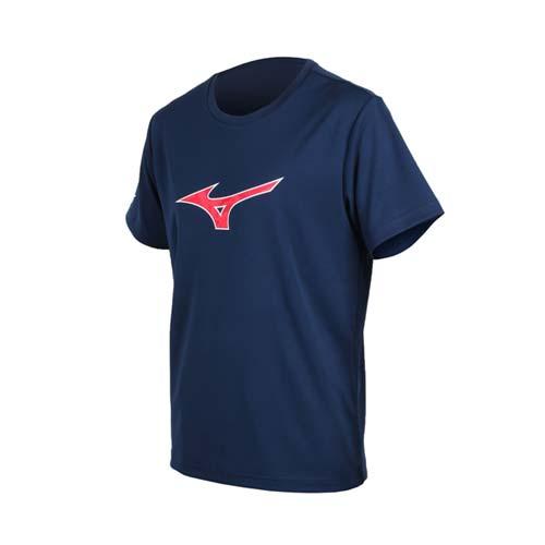(男) MIZUNO 短袖T恤-短T 短袖上衣 慢跑 路跑 美津濃 丈青紅白