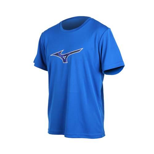 (男) MIZUNO 短袖T恤-短T 短袖上衣 慢跑 路跑 美津濃 藍白黑