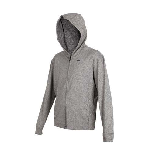 (男) NIKE 運動外套-連帽外套 慢跑 路跑 長袖上衣 麻花灰黑