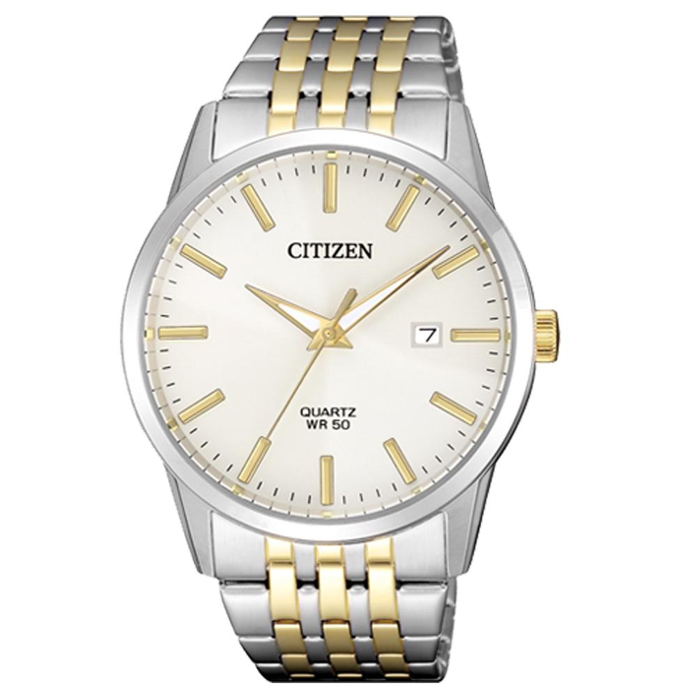 CITIZEN 星辰 石英指針男錶 不鏽鋼錶帶 日常生活防水 強化玻璃鏡面 BI5006-81P