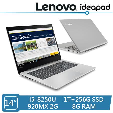 Lenovo ideapad 320S 特仕機 (i5-8250U/920MX 2G獨顯/8G/1T+256G SSD/14吋FHD)