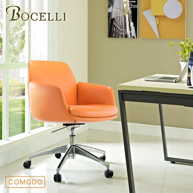 【BOCELLI】COMODO自在風尚辦公椅(義大利全皮)原皮褐