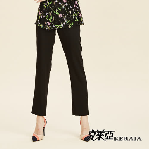 【KERAIA 克萊亞】經典滑面小直筒長褲