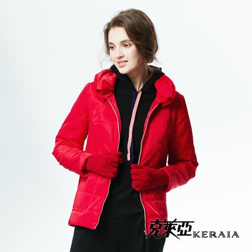 【KERAIA 克萊亞】經典立領鋪棉短外套