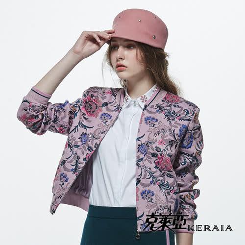 【KERAIA 克萊亞】時尚鉚釘毛呢馬帽