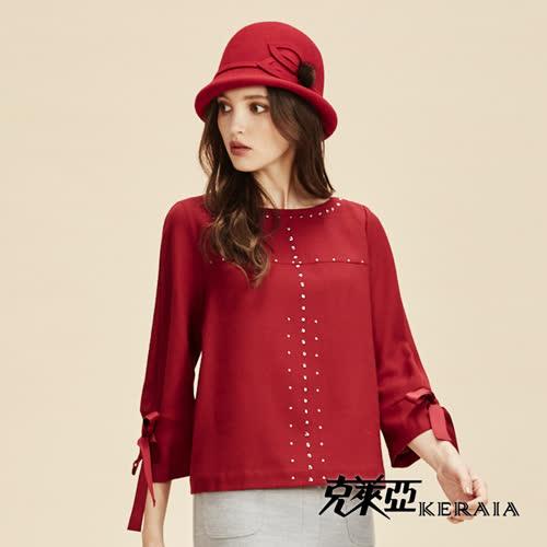【KERAIA 克萊亞】100%羊毛小毛球鐘型帽